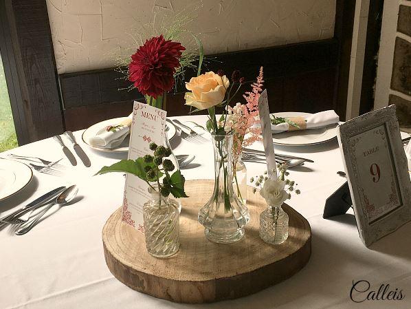 centre de table fleurie