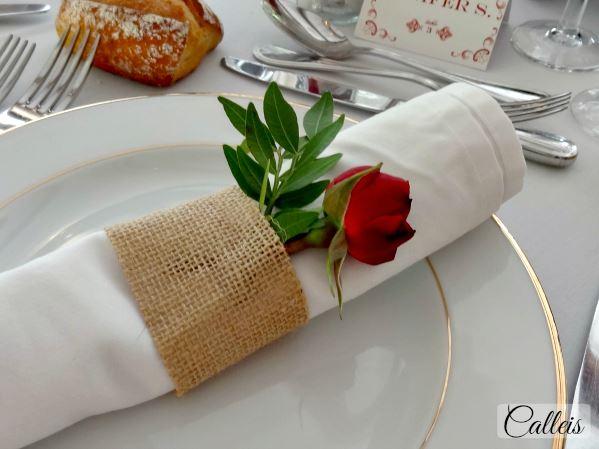 rond de serviette fleuri