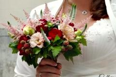 bouquet mariée bordeaux