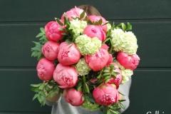 bouquet pivoine viburnum
