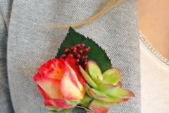 boutonnière plante grasse